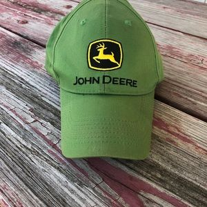 Used Faded John Deere Hat in Great Condition.